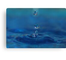 Drops in Blue Canvas Print