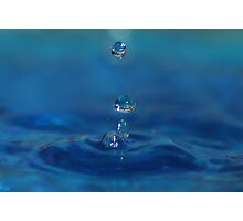 Drops in Blue Photographic Print