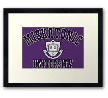 Miskatonic University Black & White Logo Framed Print