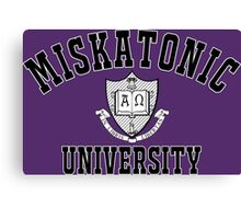 Miskatonic University Black & White Logo Canvas Print