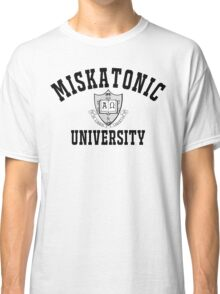Miskatonic University Black & White Logo Classic T-Shirt
