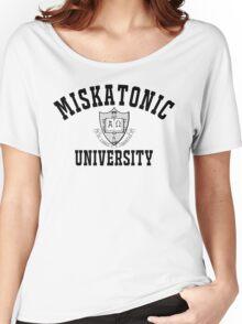 Miskatonic University Black & White Logo Women's Relaxed Fit T-Shirt