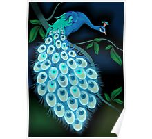 Digital image of a peacock Poster