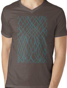 Animal Skin on Dots Mens V-Neck T-Shirt