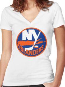 New York Islanders Women's Fitted V-Neck T-Shirt