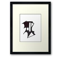 Bat Bust Framed Print