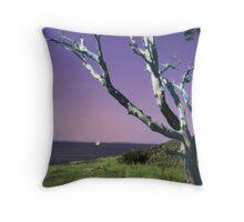 Desolate Tree (colorized) Throw Pillow
