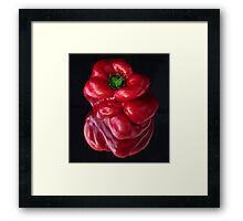 Red Capsicum Framed Print