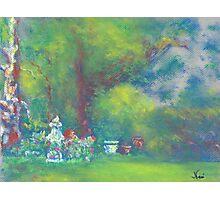 Peaceful Garden (pastel) Photographic Print