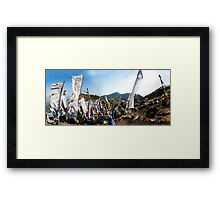 Prayers carried by the wind Framed Print