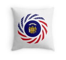 Wisconsin Murican Patriot Flag Series Throw Pillow