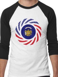 Wisconsin Murican Patriot Flag Series Men's Baseball ¾ T-Shirt