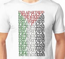 free palestine with flag Unisex T-Shirt