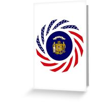 Wisconsin Murican Patriot Flag Series Greeting Card