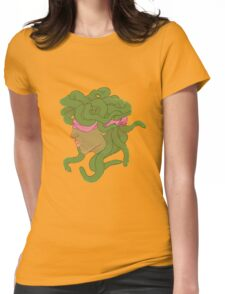 Eyes Covered Medusa Womens Fitted T-Shirt