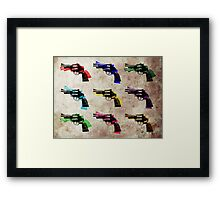 Nine Revolvers Framed Print