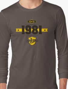 Born in 1981 (Choco&Yellow) Long Sleeve T-Shirt