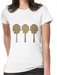 Women's Retro Autumn Tree T Shirt Womens Fitted T-Shirt