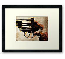 Revolver Trigger Framed Print