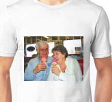 Enjoying a Good Laugh Together Unisex T-Shirt