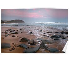Forresters Beach Sunset Poster