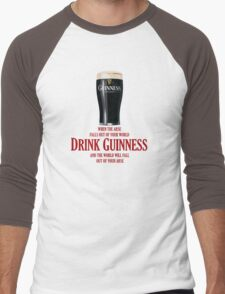 Drink Guinness Men's Baseball ¾ T-Shirt