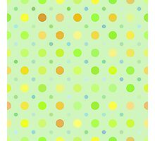 Multocolored Dots Pale Green Background Photographic Print