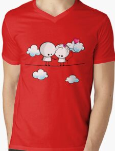 Let`s fall in love together Mens V-Neck T-Shirt