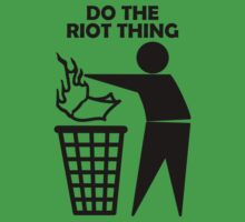 Do The Riot Thing Baby Tee