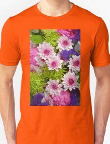 Colorful floral spring bouquet Unisex T-Shirt