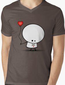 Sad boy with broken heart Mens V-Neck T-Shirt