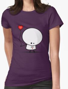 Sad boy with broken heart Womens Fitted T-Shirt
