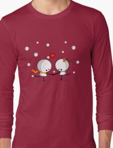 Dancing in the snow Long Sleeve T-Shirt