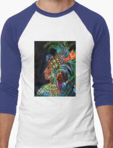 Lady of Yaxchilan Men's Baseball ¾ T-Shirt