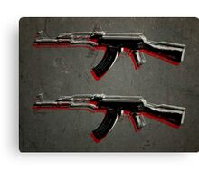 AK47 Assault Rifle Pop Art Canvas Print