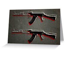 AK47 Assault Rifle Pop Art Greeting Card