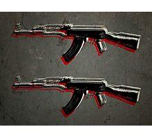 AK47 Assault Rifle Pop Art Photographic Print