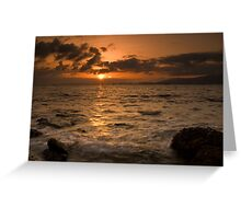 Mallorca: Last Rays Across the Bay Greeting Card
