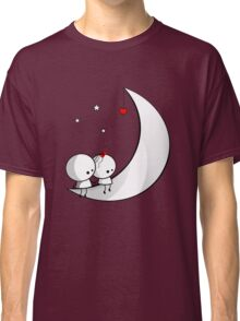 Sitting on the moon Classic T-Shirt