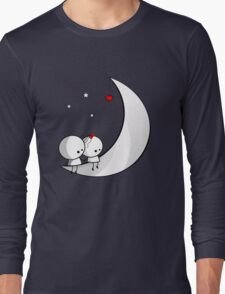 Sitting on the moon Long Sleeve T-Shirt