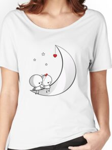 Sitting on the moon Women's Relaxed Fit T-Shirt
