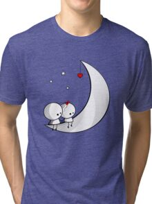 Sitting on the moon Tri-blend T-Shirt