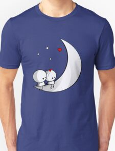 Sitting on the moon Unisex T-Shirt