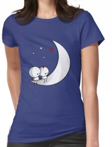 Sitting on the moon Womens Fitted T-Shirt