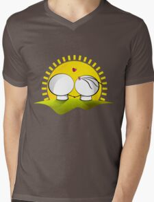 Looking at the sunset Mens V-Neck T-Shirt