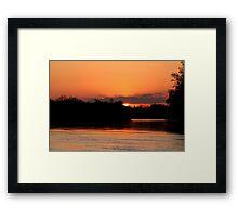 Twilight on the Assiniboine Framed Print