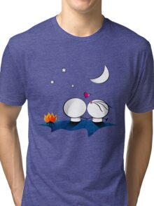 Looking at the moon Tri-blend T-Shirt
