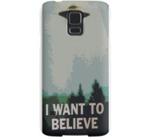 I Want to Believe- X Files Samsung Galaxy Case/Skin