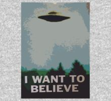 I Want to Believe- X Files One Piece - Long Sleeve