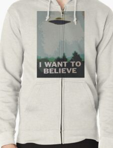 I Want to Believe- X Files Zipped Hoodie